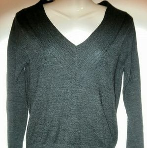 Charcoal Grey V Neck Sweater